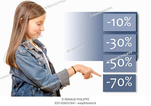 a young teenage girl shows the best discount sales