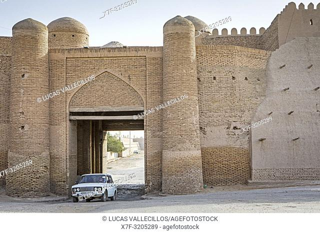South Gate or Tosh-Darvoza of Ichon-Qala or old city, Khiva, Uzbekistan
