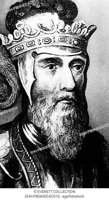British Royalty. British King Edward III, circa late 14th century