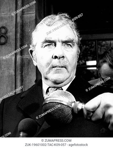 Oct. 2, 1960 - London, England, U.K. - JOE GORMLEY (1917-1993) was President of the National Union of Mineworkers from 1971 until 1982