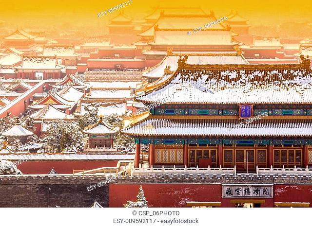The Forbidden City in winter,Beijing,China