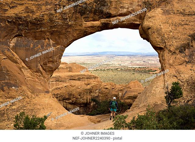 View of arch rock formation