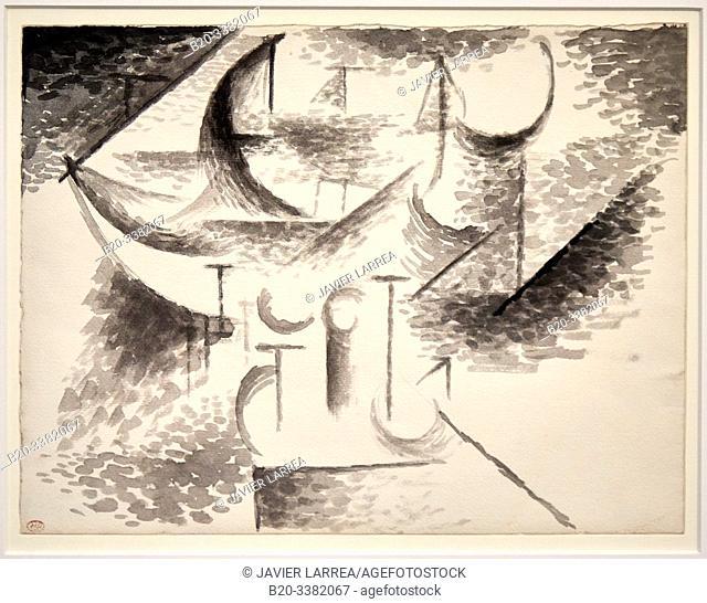 """Études de barque"", 1910, Pablo Picasso, Picasso Museum, Paris, France, Europe"