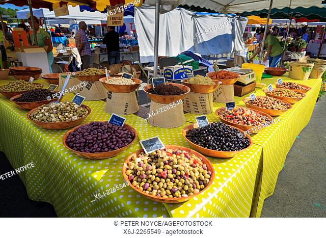 Olive stall in French market