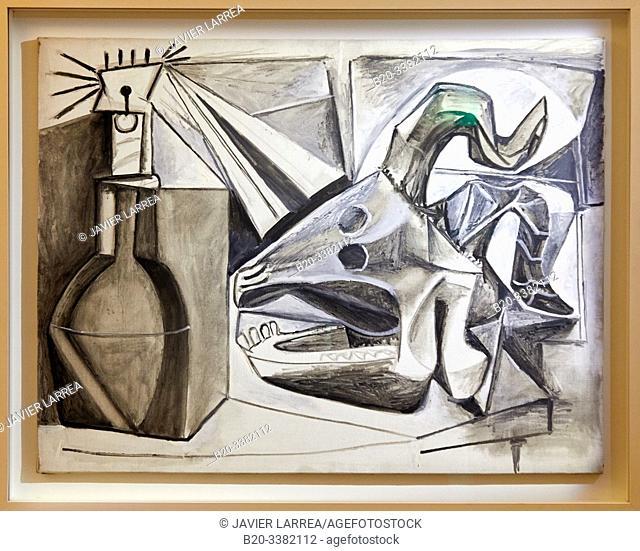 """""""Crane de chèvre, bouteille et bougie"""", 1952, Pablo Picasso, Picasso Museum, Paris, France, Europe"""