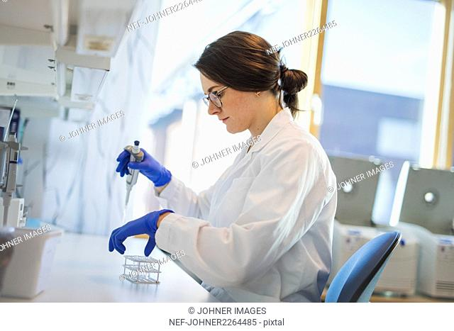 Technician doing research in laboratory