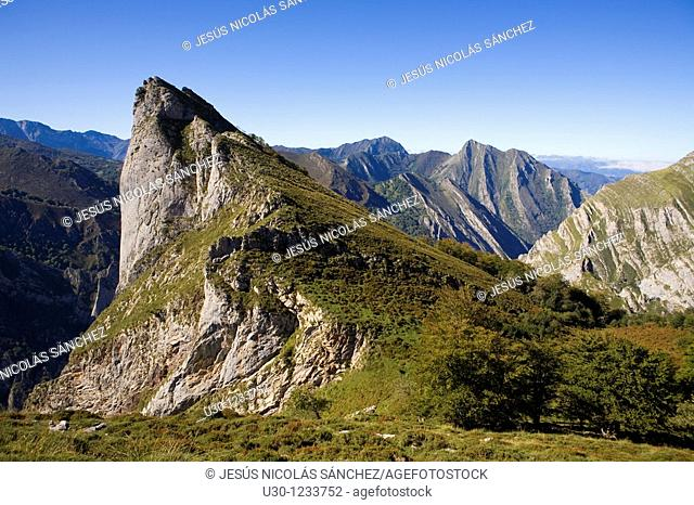 Cornion massif, in the Picos de Europa National Park, Sajambre Valley, Leon, Castilla y Leon  Spain