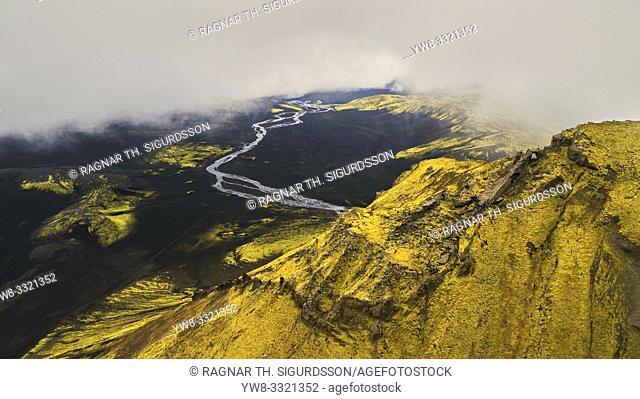 Maelifellssandur, Brennivinskvisl river, Iceland. This image is shot using a drone