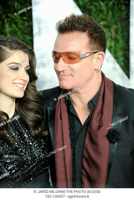 Bono and daughter Eve Hewson arrives for the 2013 Vanity Fair Oscar Party hosted by Graydon Carter at Sunset Tower on February 24, 2013 in West Hollywood