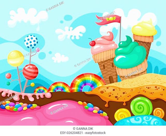 sweet vector illustration
