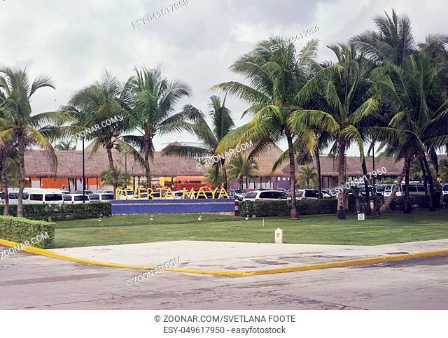 Puerta Maya Sign in Cozumel, Mexico near cruise port