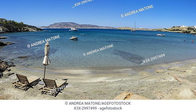 Beach view. Schinoussa island. Greece
