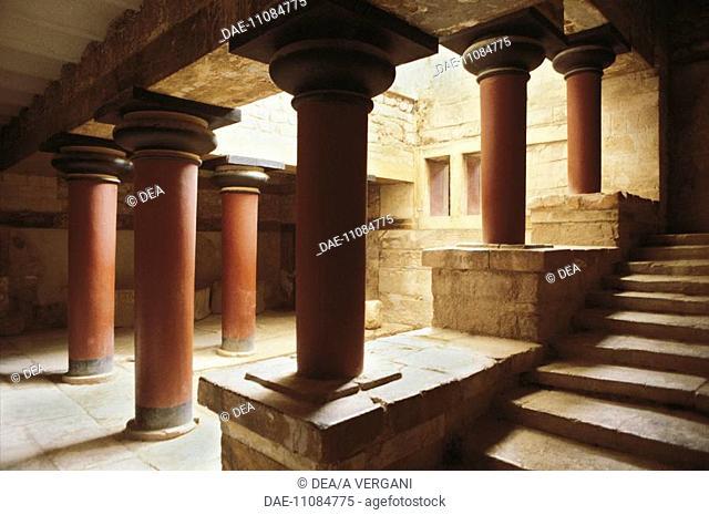 Greece - Crete - Knossos. Palace of Minos. Peristyle