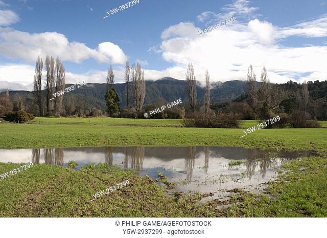 Countryside after rain, Takaka Hill Highway, South Island, New Zealand