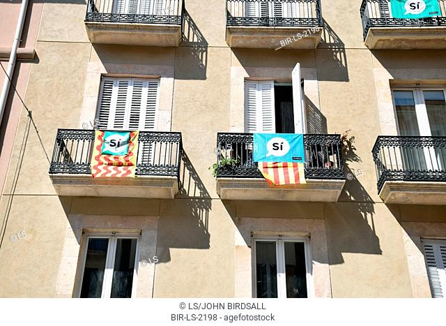 Catalonia, Spain Sep 2017. Tarragona. On 1 October Catalans will go to the polls to vote in a referendum on whether to secede from Spain and form an independent...