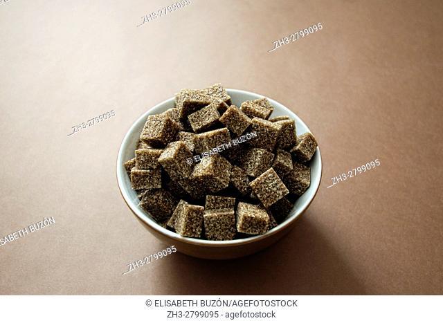Bowl with sugar on bottom Brown