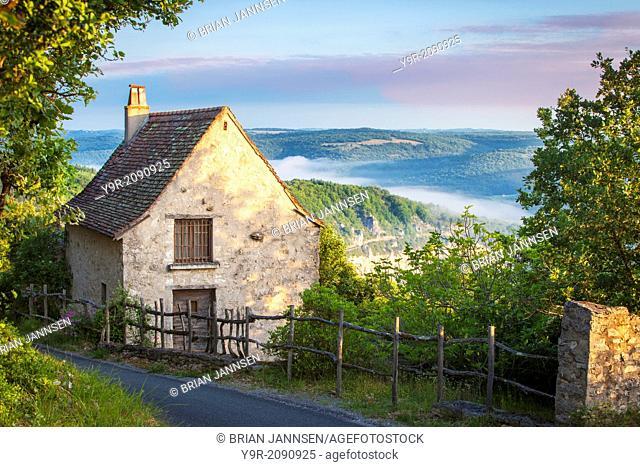 Cottage above the Lot Valley near Saint Cirq Lapopie, Midi-Pyrenees, France