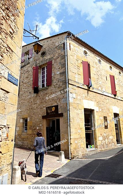 The old town of Bergerac, Aquitaine, Dordogne, France
