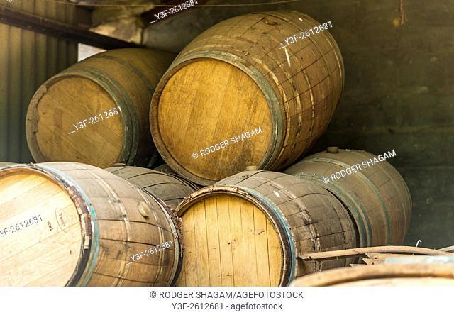 Wine Estate. Barrel workshop. Western Cape Province, South Africa