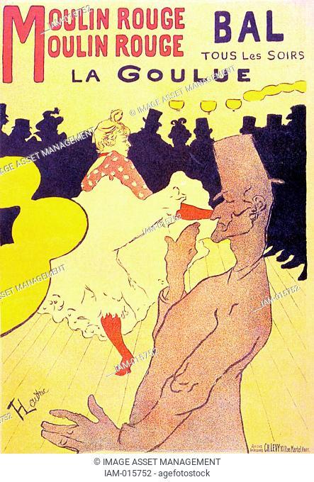 Henri de Toulouse-Lautrec 1864 – 1901, French painter, Moulin Rouge La Goulue 1891