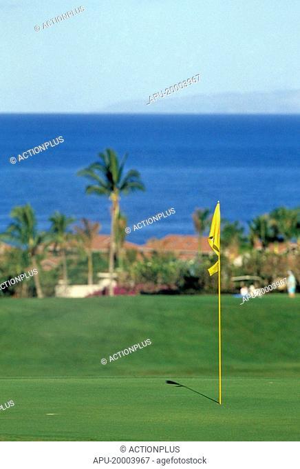 Coastal golf course fairway