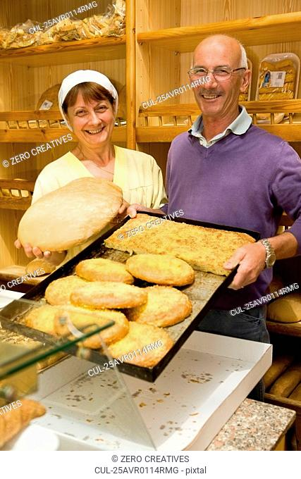 People in a bakery