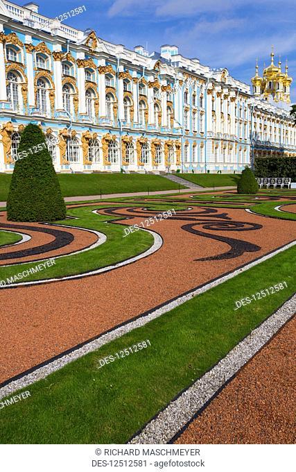 Catherine Palace, South side; Tsarskoye Selo, Pushkin, Russia
