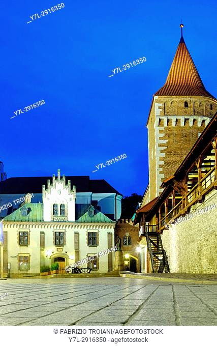 The Czartoryski Museum and city wall, Krakow, Poland