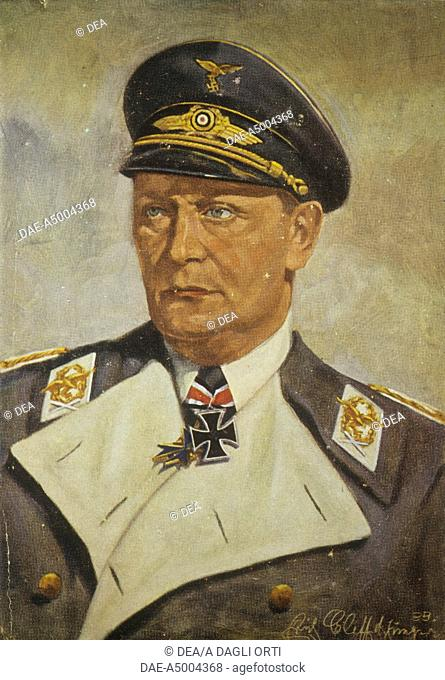 Germany - 20th century - Nazism. Portrait of Hermann Goering, a German politician, military leader and a leading member of the Nazi Party (1893-1946)