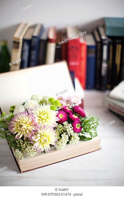 Flowers With Books