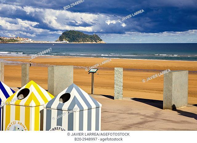 Beach, Zarautz, Gipuzkoa, Basque Country, Spain, Europe