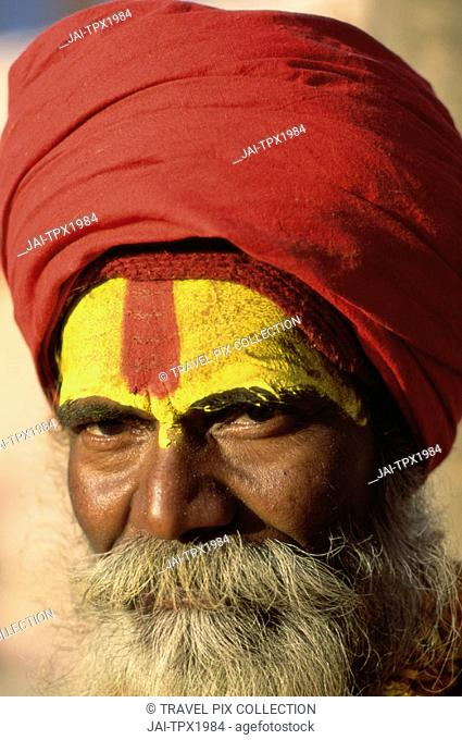 Sadhu / Holyman / Portrait, Jaipur, Rajasthan, India