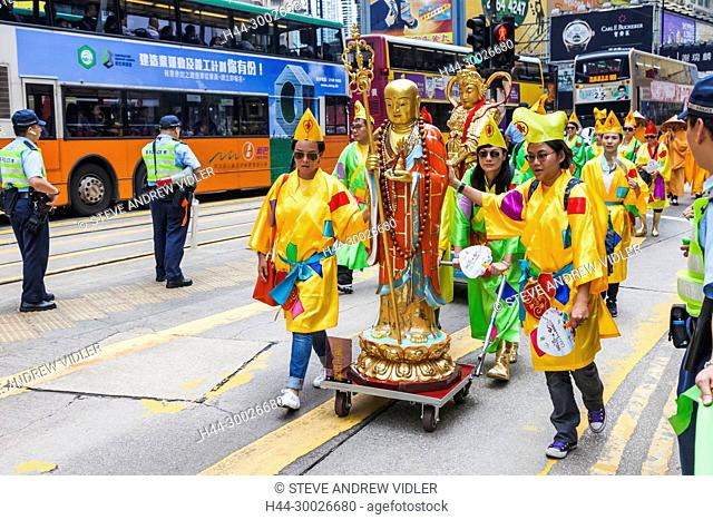 China, Hong Kong, Causeway Bay, Taoist Parade