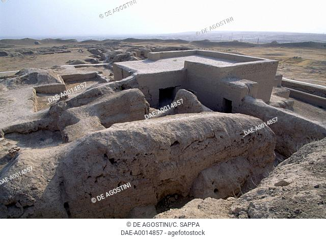 Archaeological excavations in Mary, Turkmenistan, 7th century