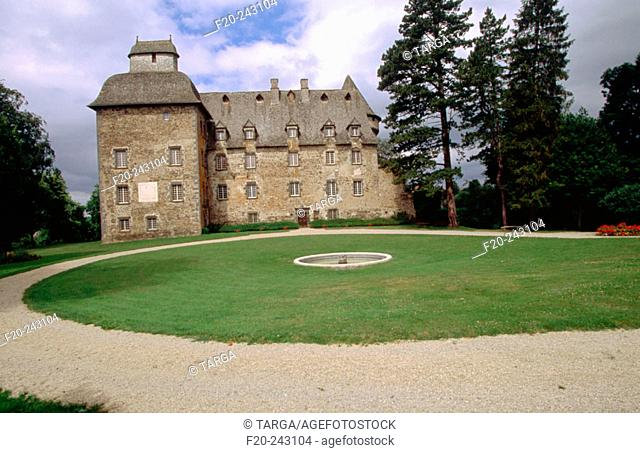 Conros' Castle in Cantal. Auvergne