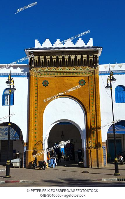 Bab al Khemis, Place de la Liberation, Larache, northern Morocco, Africa