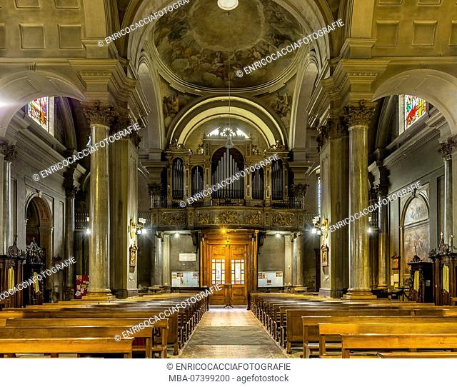 Organ gallery of the Chiesa dei Santi Gervasio e Protasio in Domodossola, Piedmont, Italy