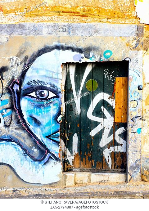 Graffiti in Faro - Algarve region, Portugal