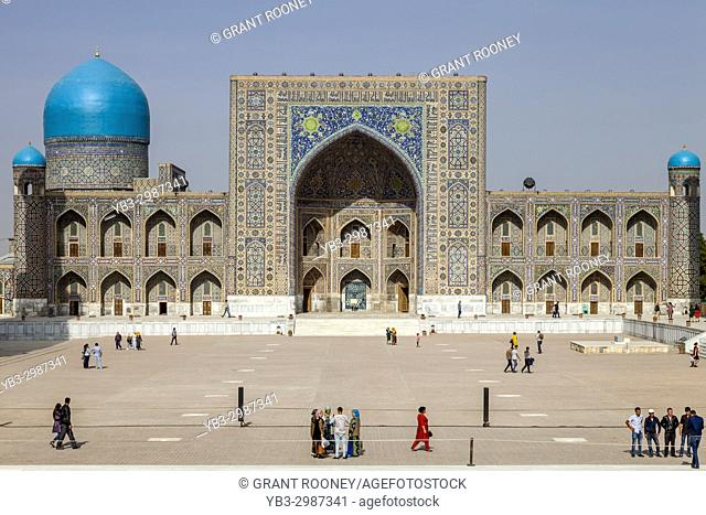The Exterior Of The Tilla-Kori Madrassa, The Registan, Samarkand, Uzbekistan