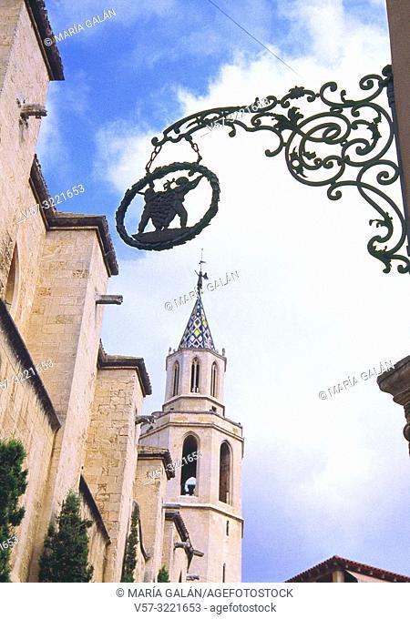 Santa Maria basilica. Vilafranca del Penedes, Barcelona province, Catalonia, Spain