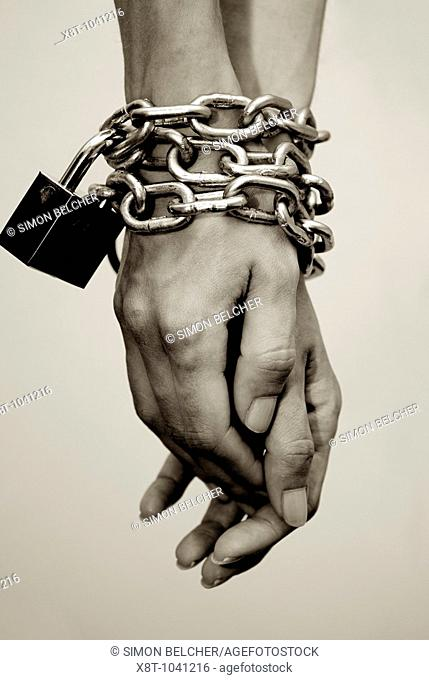 Hands Chained at the Wrists