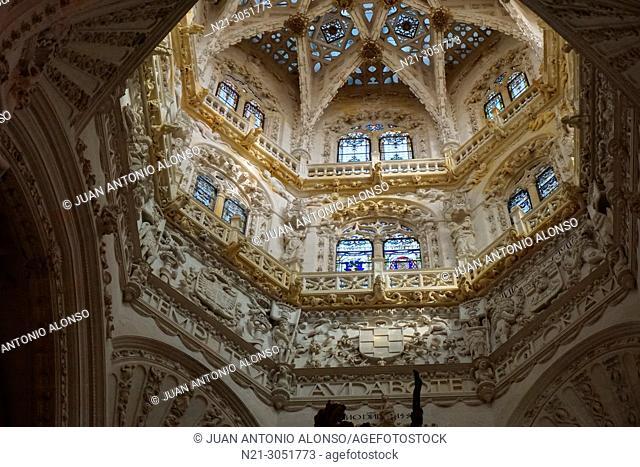 Dome. Santa Iglesia Catedral Basílica Metropolitana de Santa María. .Burgos, Castilla y León, Spain
