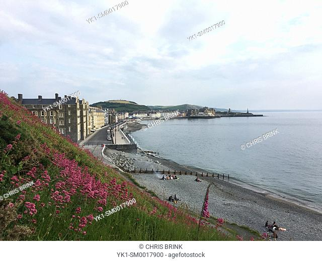 Aberystwyth as seen from Constitution Hill Ceredigion Wales UK
