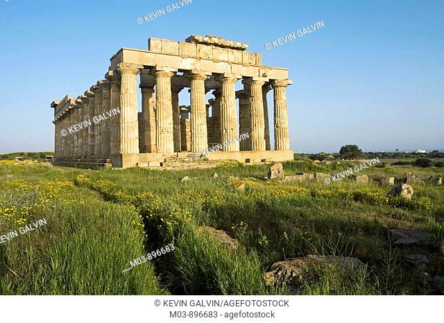 Ancient Greek Temple Selinunte archaeological site Sicily Italy