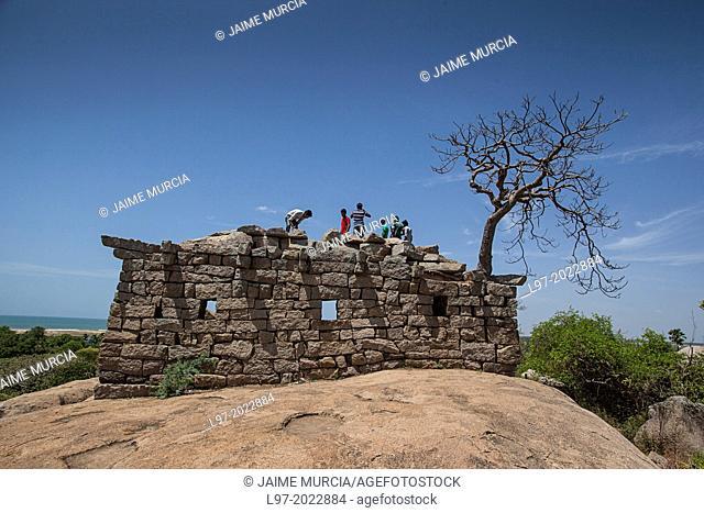 Stone structure at Mahabalipuram, South India
