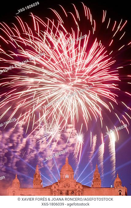 Piromusical - Fireworks festival -, Festes de la Mercè, Barcelona, Spain