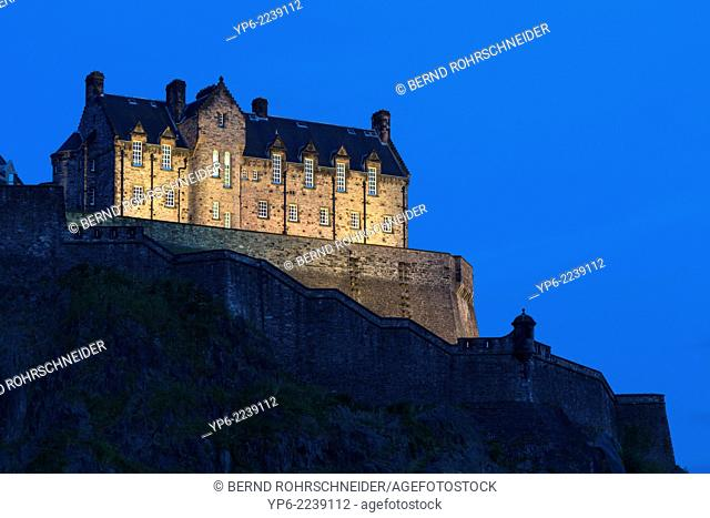 Edinburgh Castle at night, Edinburgh, Scotland
