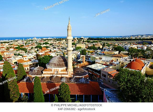 Greece, Dodecanese, Rhodes island, Rhodes city, Unesco word heritage, Souleiman mosque