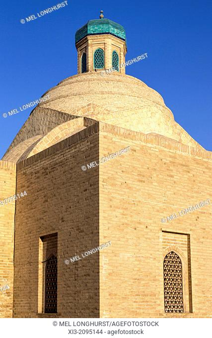 Dome of Toqi Sarrofon, also known as Toki Sarrafon, city gate and money changers trading dome, Bukhara, Uzbekistan