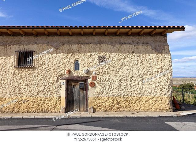 Villar de Mazarife, Spain: Former home of artist Luis López Casado, known as Monseñor. The home is adorned with folk art emblematic of the Way of St